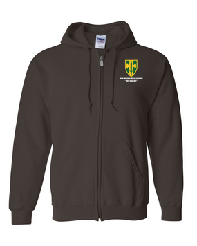 18th MP Brigade Embroidered Hooded Sweatshirt with Zipper