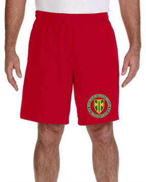 18th MP Brigade Embroidered Gym Shorts -Proud