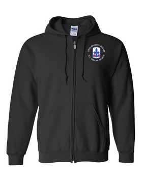 29th Infantry Brigade Embroidered Hooded Sweatshirt with Zipper (C)