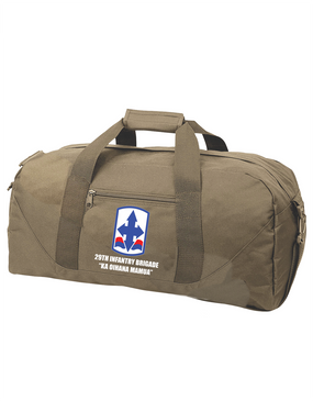 29th Infantry Brigade Embroidered Duffel Bag