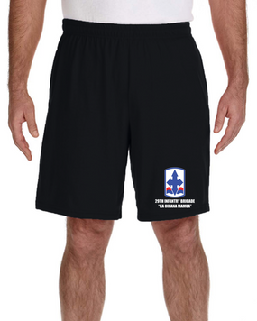 29th Infantry Brigade Embroidered Gym Shorts