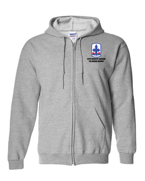 29th Infantry Brigade Embroidered Hooded Sweatshirt with Zipper