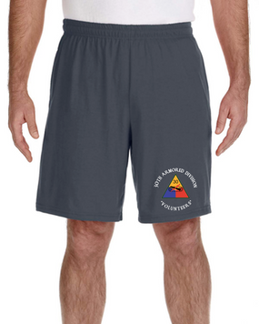 30th Armored Division Embroidered Gym Shorts (C)