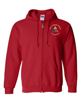 30th Armored Division Embroidered Hooded Sweatshirt with Zipper (C)