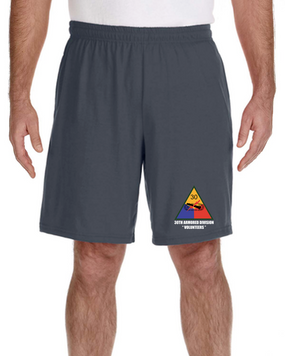 30th Armored Division Embroidered Gym Shorts