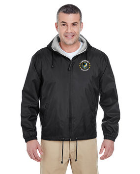 US Army Security Agency Embroidered Fleece-Lined Hooded Jacket (C)