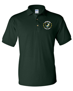 US Army Security Agency Embroidered Cotton Polo Shirt -(C)