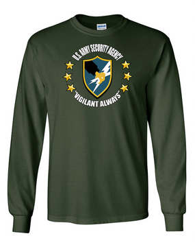 US Army Security Agency Long-Sleeve Cotton T-Shirt (C)(FF)
