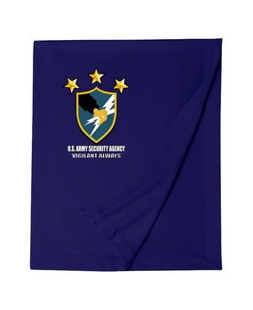 US Army Security Agency Embroidered Dryblend Stadium Blanket