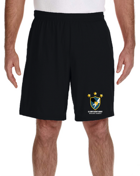 US Army Security Agency Embroidered Gym Shorts