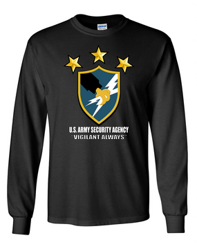 US Army Security Agency Long-Sleeve Cotton T-Shirt (FF)