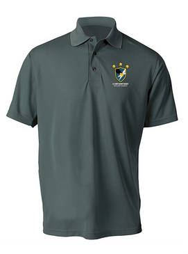 US Army Security Agency Embroidered Moisture Wick Polo Shirt