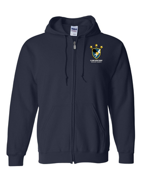 US Army Security Agency Embroidered Hooded Sweatshirt with Zipper