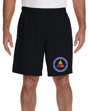 30th Armored Division Embroidered Gym Shorts -Proud