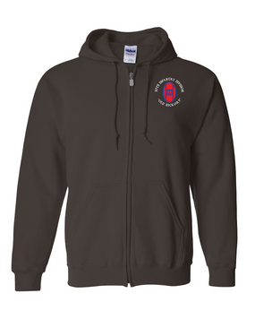 30th Infantry Division Embroidered Hooded Sweatshirt with Zipper   (C)