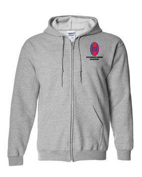30th Infantry Division Embroidered Hooded Sweatshirt with Zipper