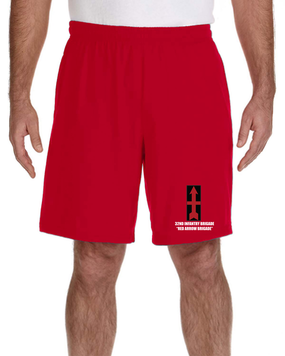32nd Infantry Brigade Embroidered Gym Shorts