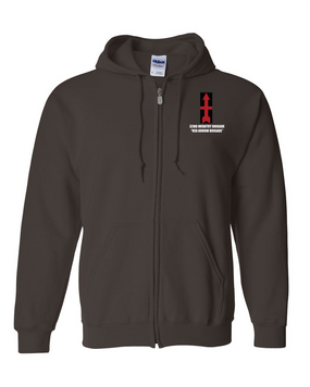 32nd Infantry Brigade Embroidered Hooded Sweatshirt with Zipper