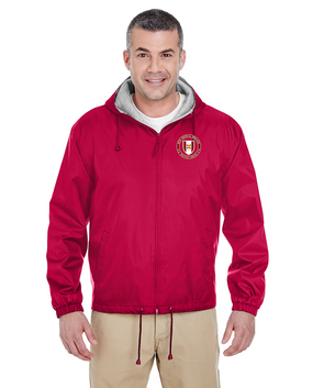44th Medical Brigade Embroidered Fleece-Lined Hooded Jacket -Proud
