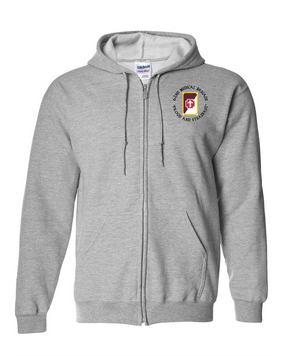 62nd Medical Brigade Embroidered Hooded Sweatshirt with Zipper   -(C)