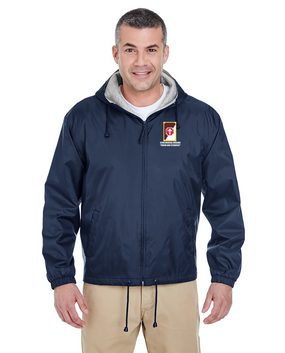 62nd Medical Brigade Embroidered Fleece-Lined Hooded Jacket