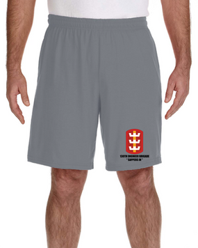 130th Engineer Brigade Embroidered Gym Shorts