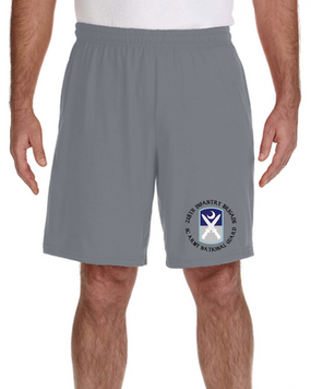 218th Infantry Brigade Embroidered Gym Shorts (C)