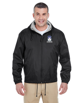 218th Infantry Brigade Embroidered Fleece-Lined Hooded Jacket