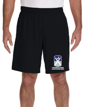 218th Infantry Brigade Embroidered Gym Shorts