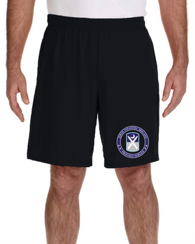 218th Infantry Brigade Embroidered Gym Shorts -Proud