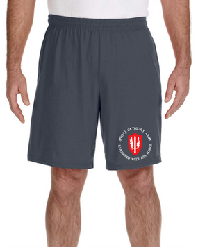 SCARWAF Embroidered Gym Shorts