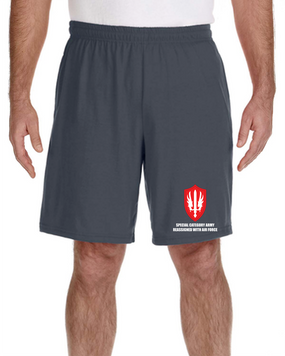 SCARWAF Embroidered Gym Shorts-(L)
