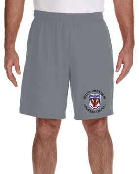 SOCCENT Embroidered Gym Shorts-(C)