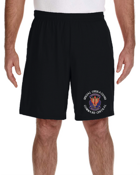"SOCCENT ""Crest""  Embroidered Gym Shorts-(C)"