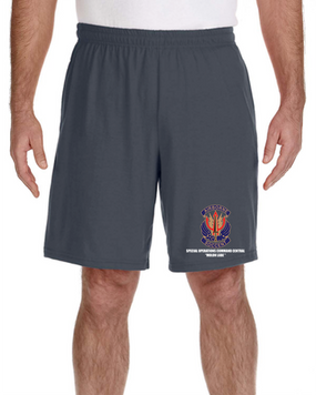 "SOCCENT ""Crest""  Embroidered Gym Shorts"