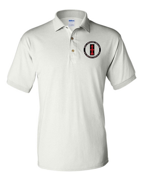 32nd Infantry Brigade Embroidered Cotton Polo-Proud