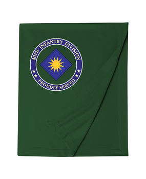 40th Infantry Division Embroidered Dryblend Stadium Blanket -Proud