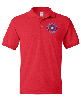 40th Infantry Division Embroidered Cotton Polo-Proud