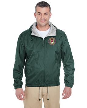 62nd Medical Brigade Embroidered Fleece-Lined Hooded Jacket-Proud