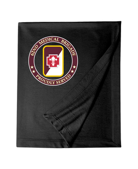 62nd Medical Brigade Embroidered Dryblend Stadium Blanket -Proud