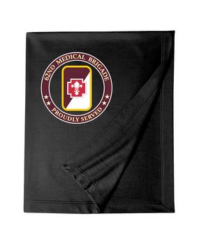 62nd Medical Brigade Embroidered Dryblend Stadium Blanket -Proud