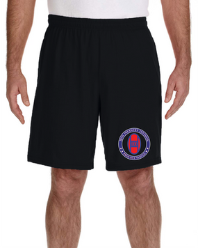 30th Infantry Division Embroidered Gym Shorts-Proud