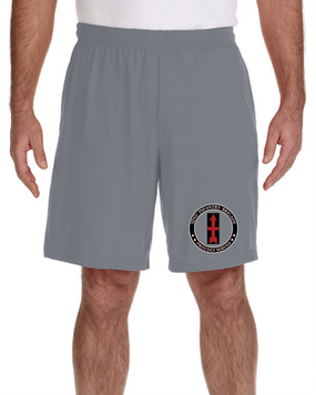 32nd Infantry Brigade Embroidered Gym Shorts-Proud