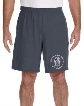 "173rd Airborne Brigade ""Crest""  Embroidered Gym Shorts-(C)"