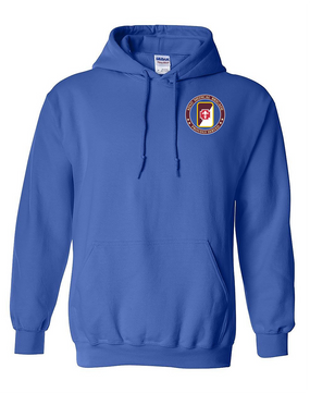 62nd Medical Brigade Embroidered Hooded Sweatshirt -Proud