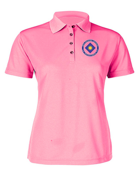 40th Infantry Division Ladies Embroidered Moisture Wick Polo Shirt -Proud