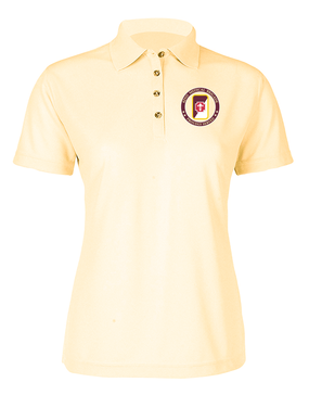 62nd Medical Brigade Ladies Embroidered Moisture Wick Polo Shirt -Proud