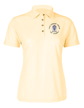 "173rd Airborne ""Crest""  Ladies Embroidered Moisture Wick Polo Shirt (C)"