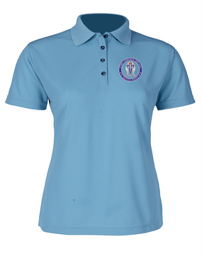 "173rd Airborne ""Crest""  Ladies Embroidered Moisture Wick Polo Shirt-Proud"