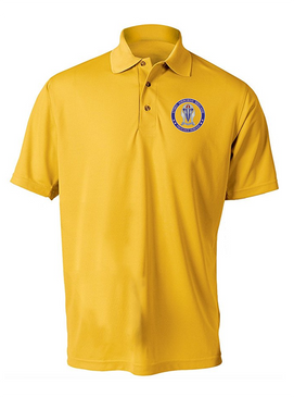"""173rd Airborne Brigade """"Crest""""  Embroidered Moisture Wick Polo-Proud"""